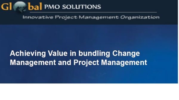 ChangeMgmt&ProjectMgmt – Presentation for PMI PDD 1