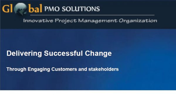 Delivering Change – Presentation at PMISOC Chapter 1