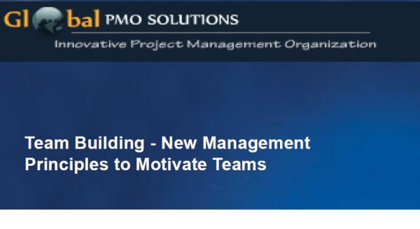 Team Building – Presentation at PMI Lakeshore Chapter 1
