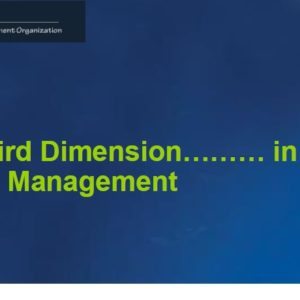 Third Dimension in PM - Presentation at PMI SIMCOE Chapter